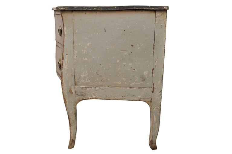 Wood French Mid-19th Century Painted Commode For Sale