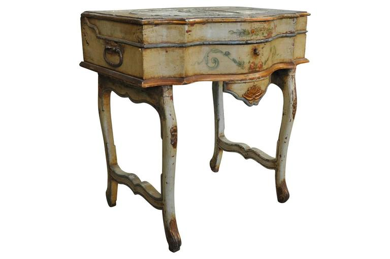 Painted Outstanding Italian, 17th Century Traveling Prayer Table For Sale