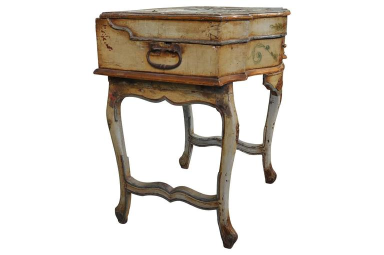 Wood Outstanding Italian, 17th Century Traveling Prayer Table For Sale