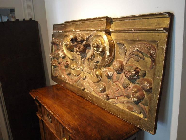 18th Century Italian Gilded Boiserie Fragment In Excellent Condition For Sale In Atlanta, GA