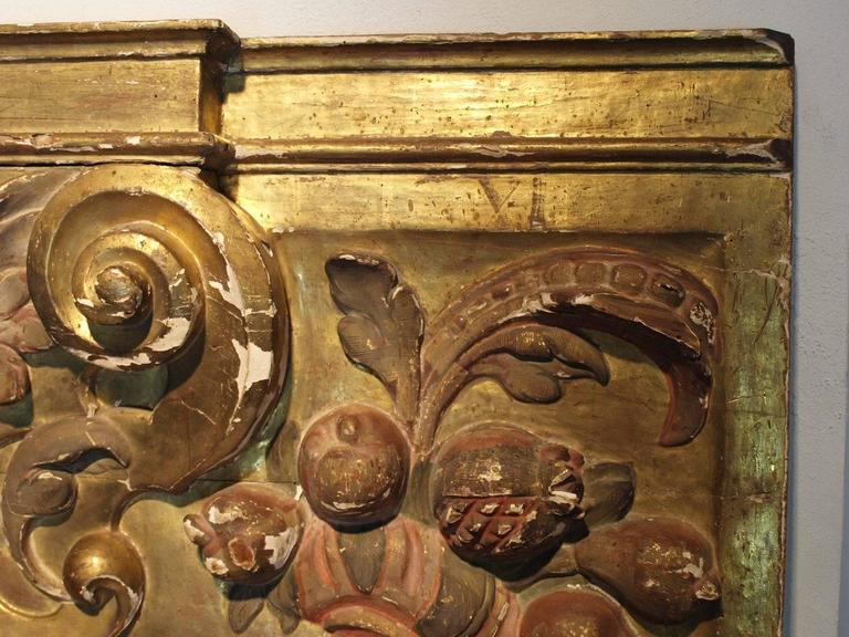 18th Century Italian Gilded Boiserie Fragment For Sale 1