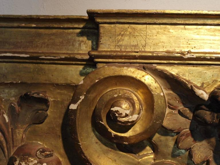 18th Century Italian Gilded Boiserie Fragment For Sale 2