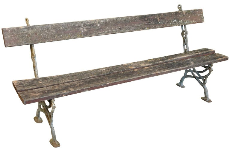 Pair of 19th Century French Garden Benches 2