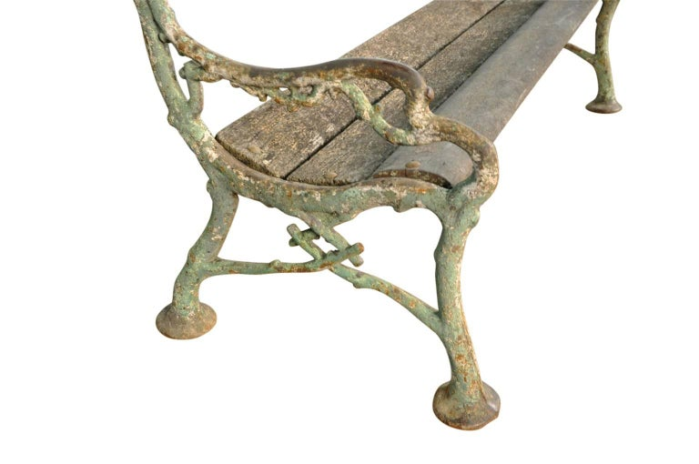 19th Century Outstanding French Garden Bench For Sale