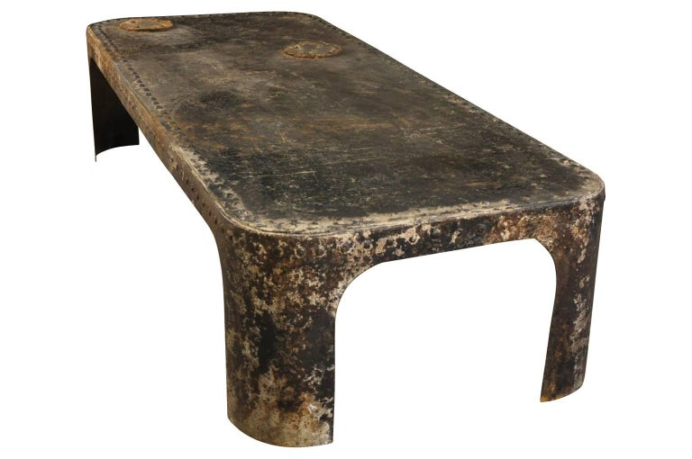 french industrial table basse coffee table at 1stdibs. Black Bedroom Furniture Sets. Home Design Ideas