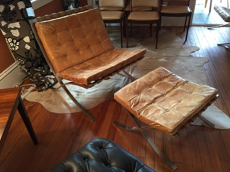 Wood Barcelona Chair Plans Legs Frame Early Van Ottoman Knoll