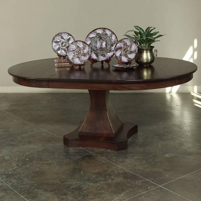 19th Century Mahogany Round Louis Philipe Pedestal Dining
