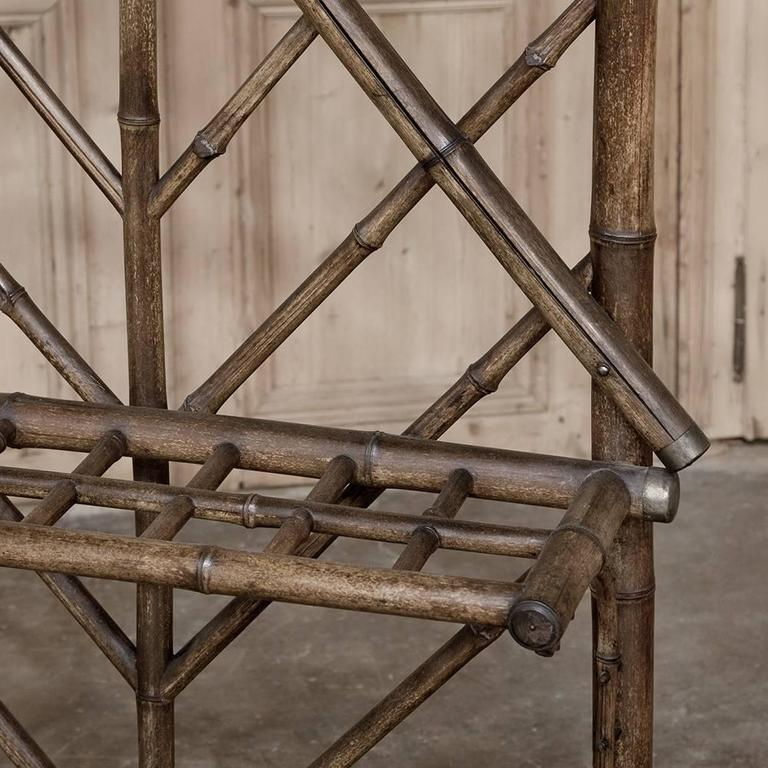 Renaissance Revival Faux Bamboo Hall Tree For Sale At 1stdibs