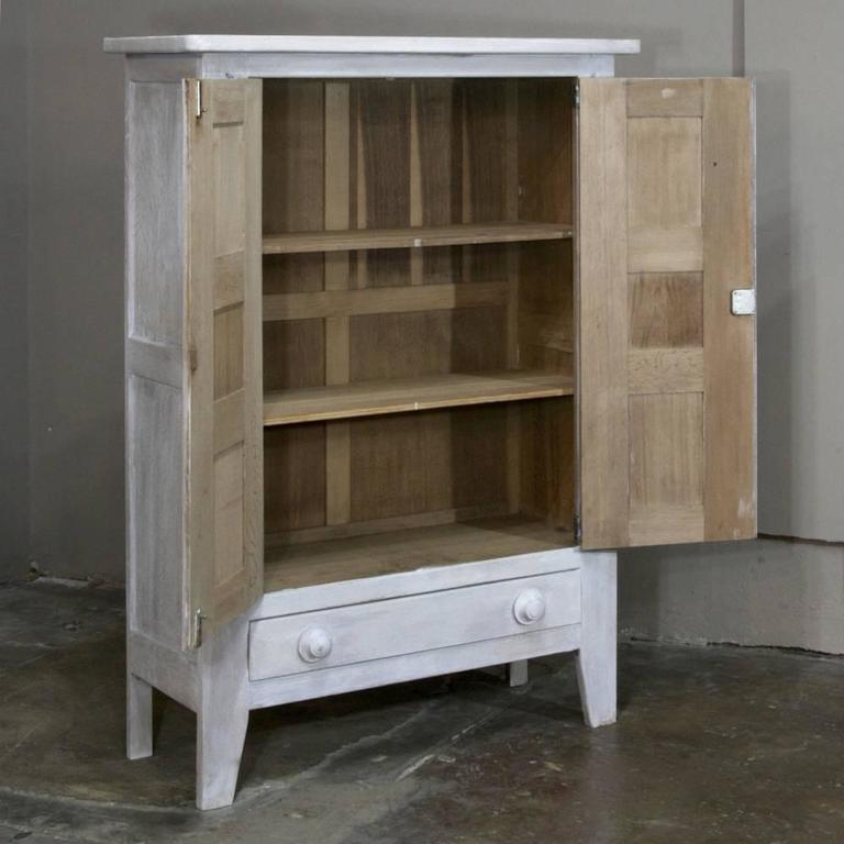 Rustic Country French Painted Gothic Cabinet For Sale at ...