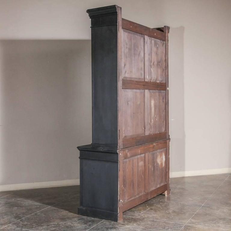 Louis Philippe Open Bookcase: 19th Century Antique Louis Philippe Period Grand Painted
