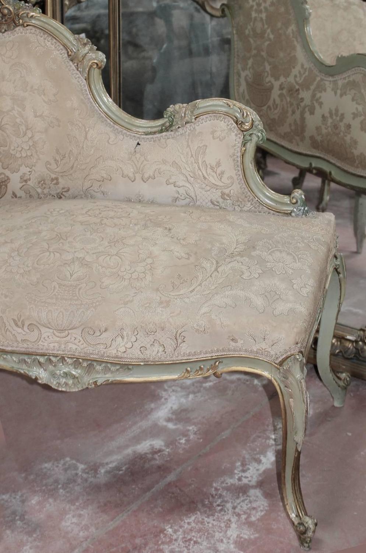 Antique venetian painted demi canap at 1stdibs - Canape suedois vintage ...