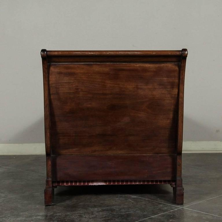 Antique french empire period solid mahogany mohair chaise for Antique french chaise
