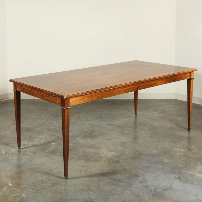 this 19th century french directoire walnut dining table is no longer