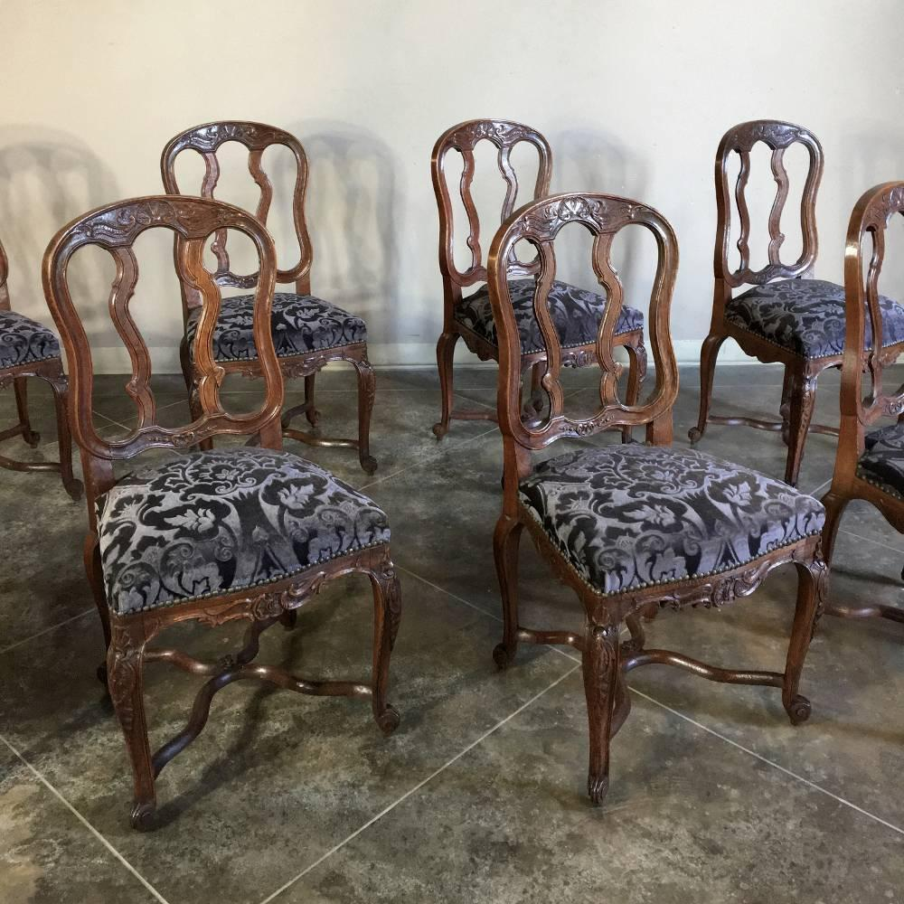 Set Of Eight Antique Country French Dining Chairs For Sale At 1stdibs