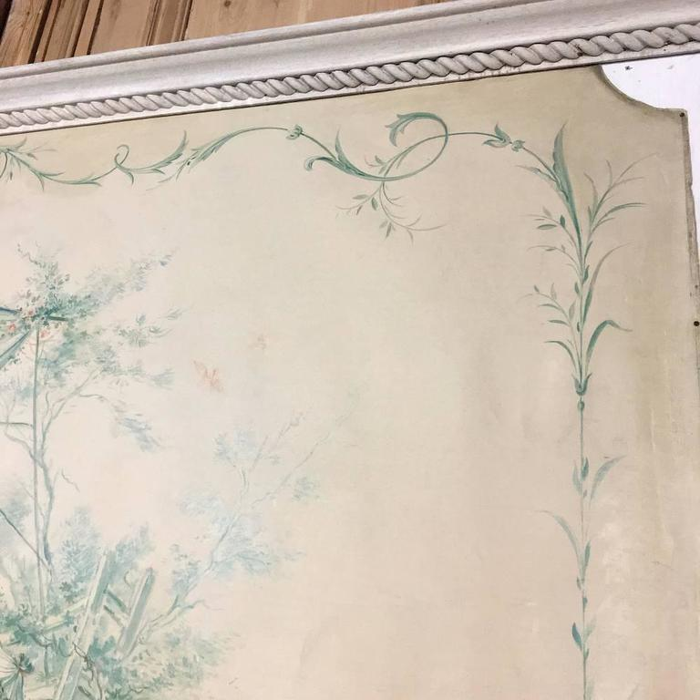 19th Century French Chinoiserie Wallpaper Panel on Painted Mount For Sale 2