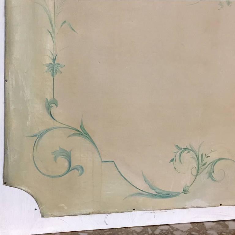 19th Century French Chinoiserie Wallpaper Panel on Painted Mount For Sale 4