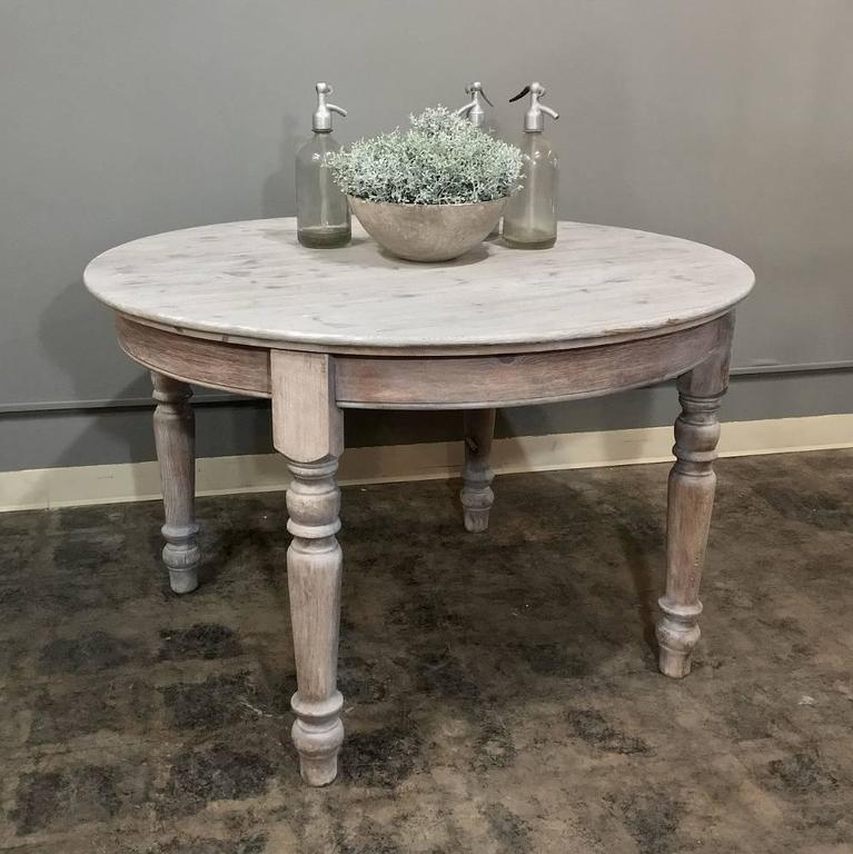 round country kitchen tables antique country whitewashed dining or centre 4887