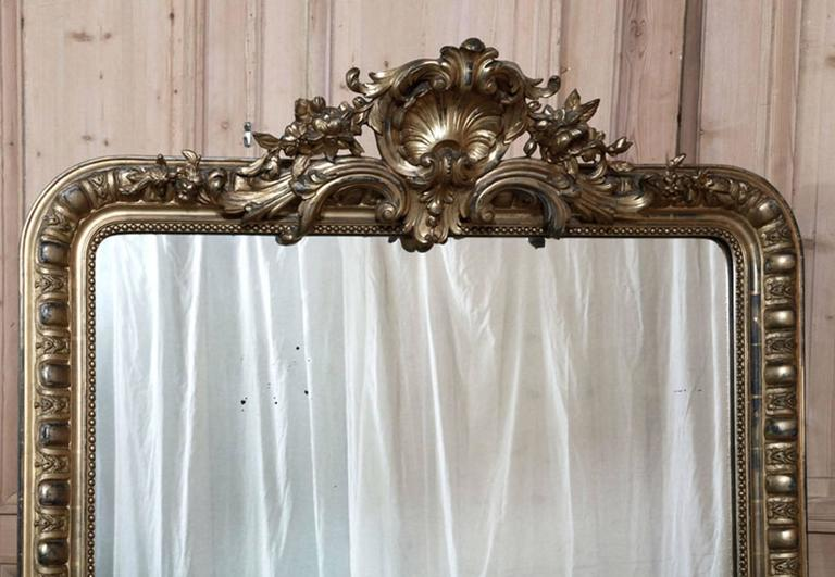 Grand Antique 19th Century French Beaux Artes Hand Crafted