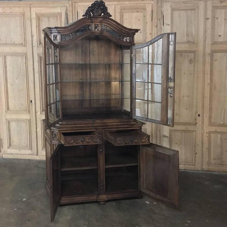 Neoclassical 19th Century Grand French Regence Bookcase, Vitrine For Sale
