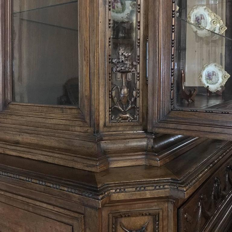 Late 19th Century 19th Century Grand French Regence Bookcase, Vitrine For Sale