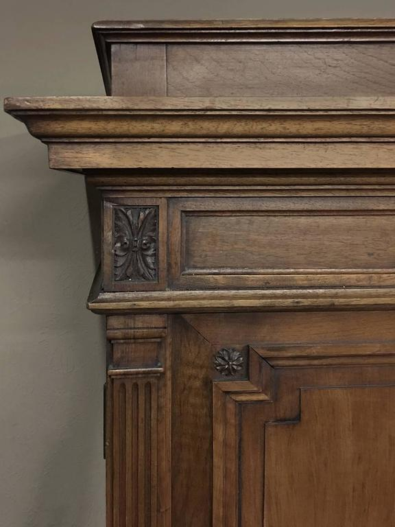 Grand 19th Century French Neoclassical Walnut Six-Door Armoire In Good Condition For Sale In Dallas, TX