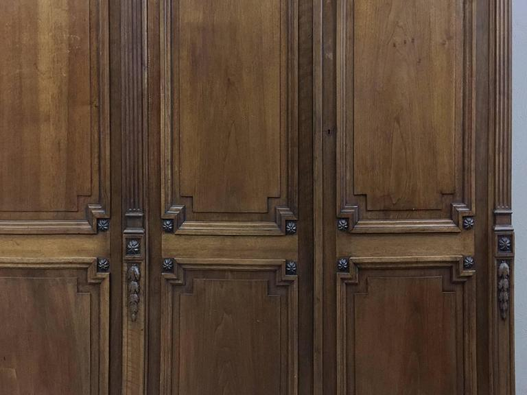 Grand 19th Century French Neoclassical Walnut Six-Door Armoire For Sale 2