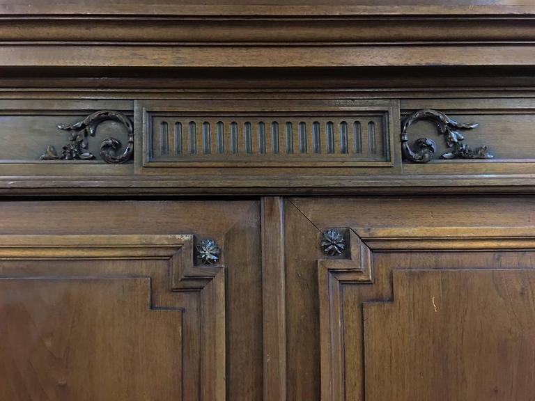 Grand 19th Century French Neoclassical Walnut Six-Door Armoire For Sale 5