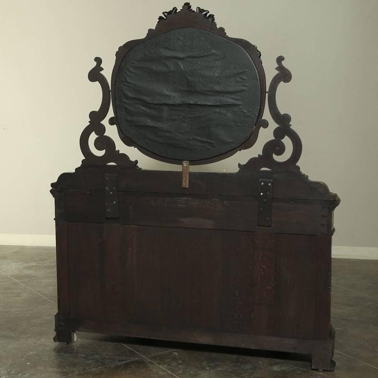 Napoleon Iii French Solid Mahogany Dresser Vanity Circa