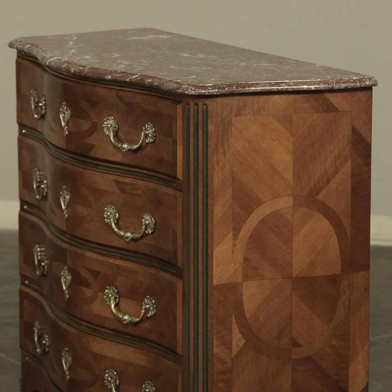 19th century french louis xiv marble top commode with marquetry for sale at 1 - Commode baroque rouge ...