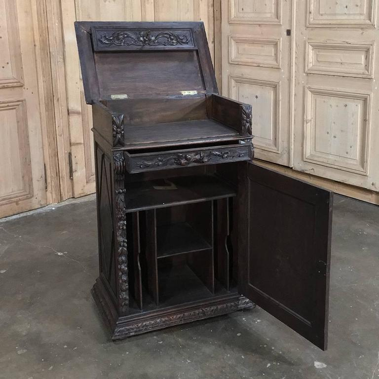 19th Century Flip-Top Library Cabinet For Sale At 1stdibs