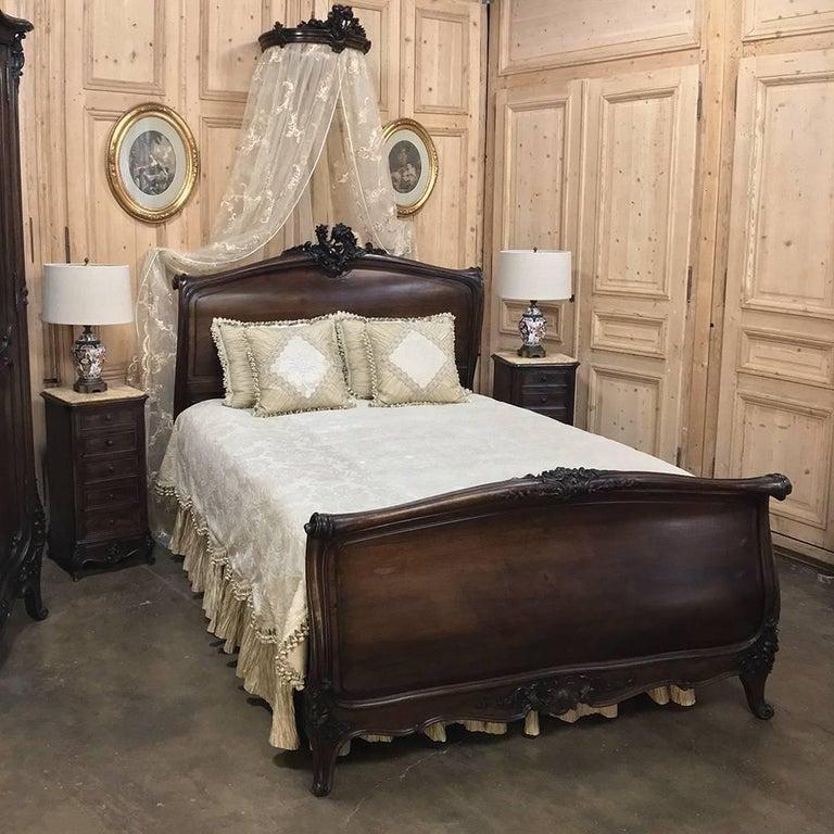 19th Century French Louis XV Walnut Five-Piece Bedroom