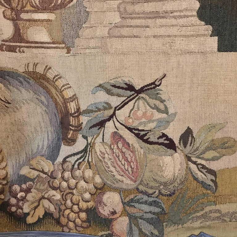 19th Century Grand Trumeau with Aubusson Tapestry In Good Condition For Sale In Dallas, TX