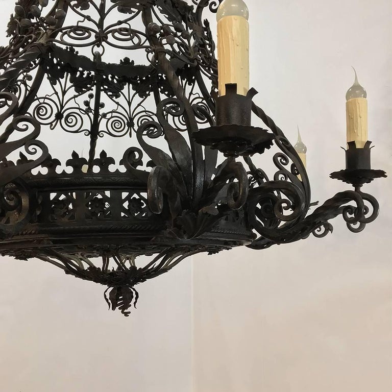 Antique Italian Wrought Iron Chandelier At 1stdibs