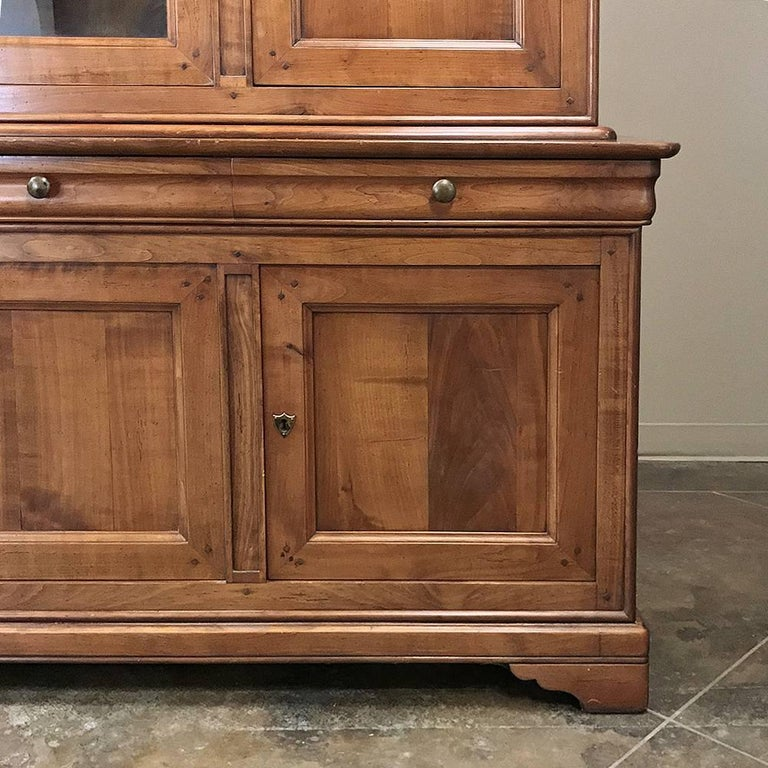 Louis Philippe Open Bookcase: Antique French Louis Philippe Cherrywood Bookcase For Sale