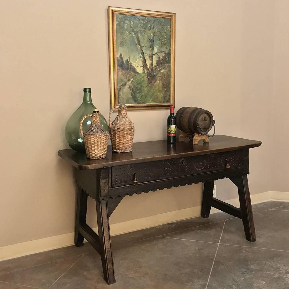 Bon 18th Century Rustic Country French Console Sofa Table