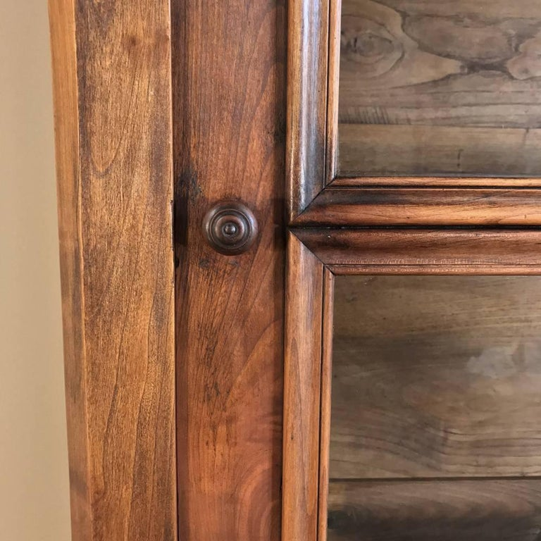 Mid-19th Century 19th Century Louis Philippe Fruitwood Bookcase