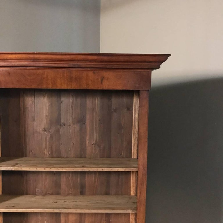 Louis Philippe Open Bookcase: Grand 19th Century French Louis Philippe Period Open