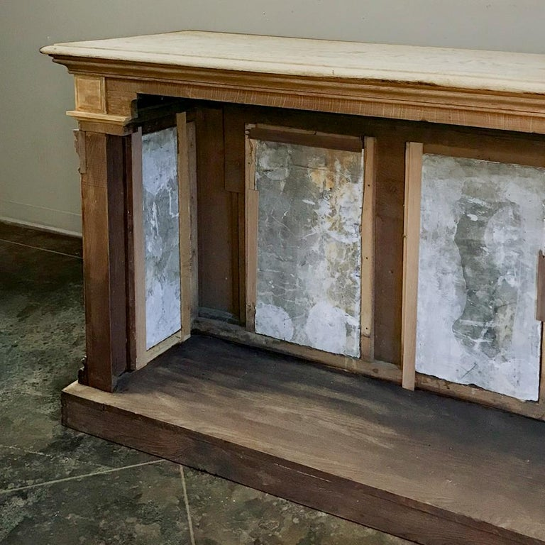 19th Century Neoclassical Store Counter, Bar with Marble Inserts For Sale 4