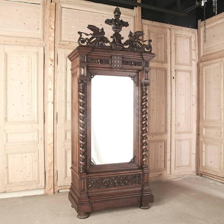 renaissance revival four piece carved oak bedroom suite at 1stdibs
