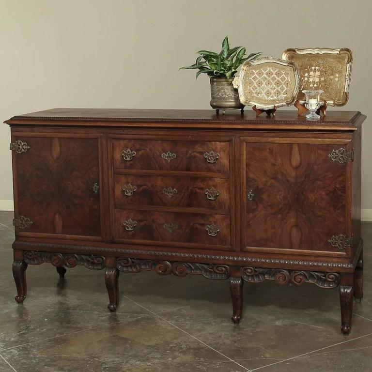 Antique English Walnut Chippendale Sideboard At 1stdibs