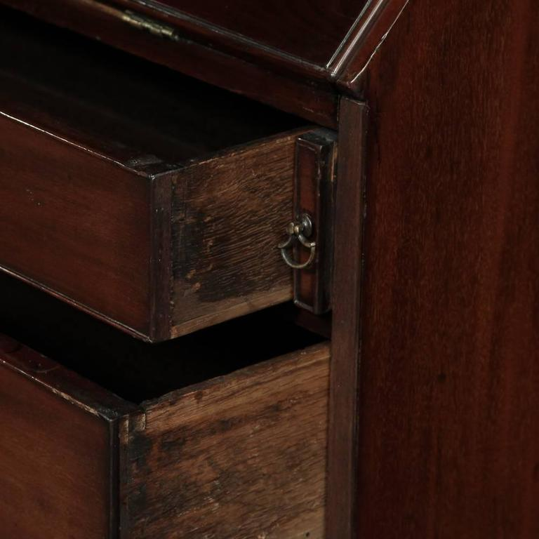 19th Century Mahogany English Secretary, Bookcase 7