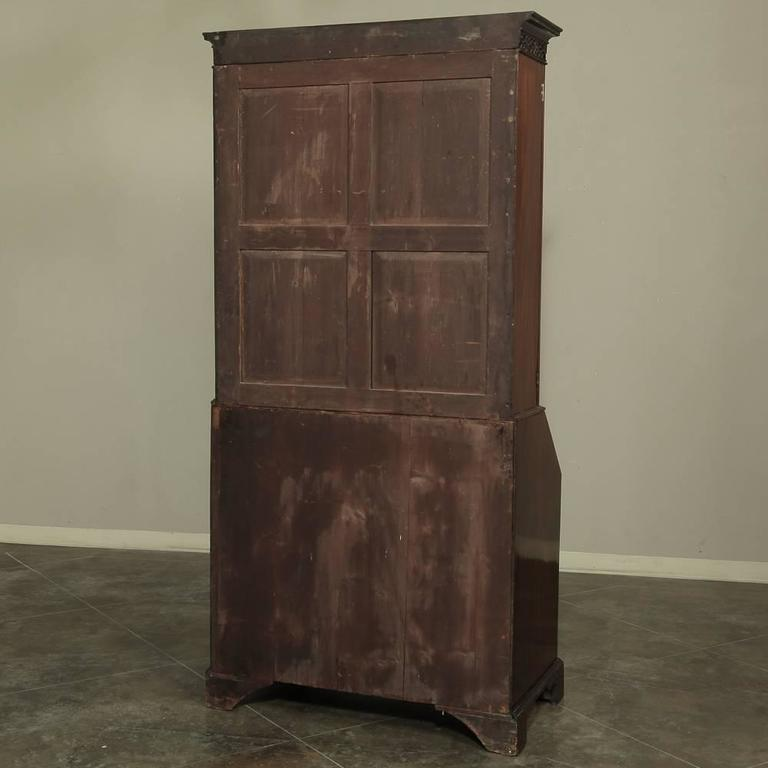 19th Century Mahogany English Secretary, Bookcase 10