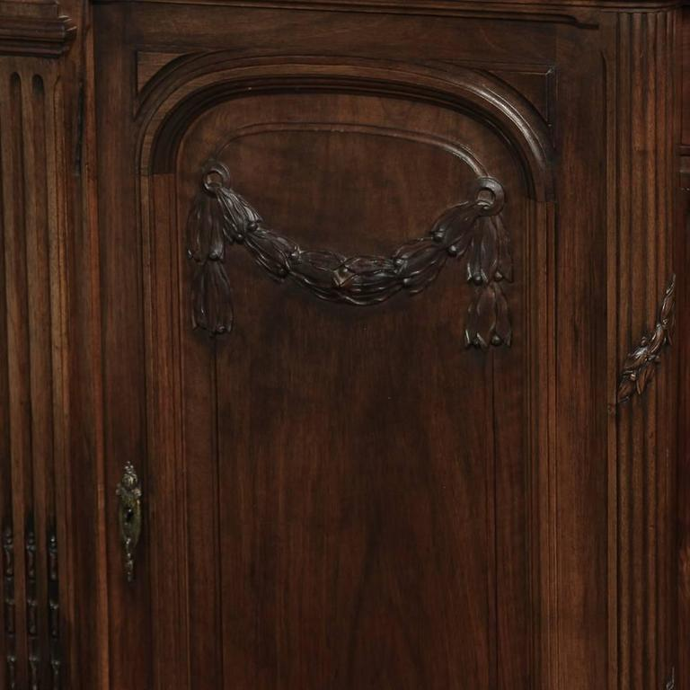 19th Century French Neoclassical Marble-Top Walnut Buffet 5