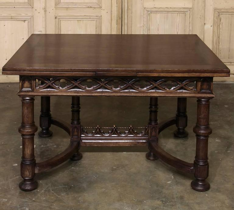 19th century french gothic draw leaf dining table at 1stdibs