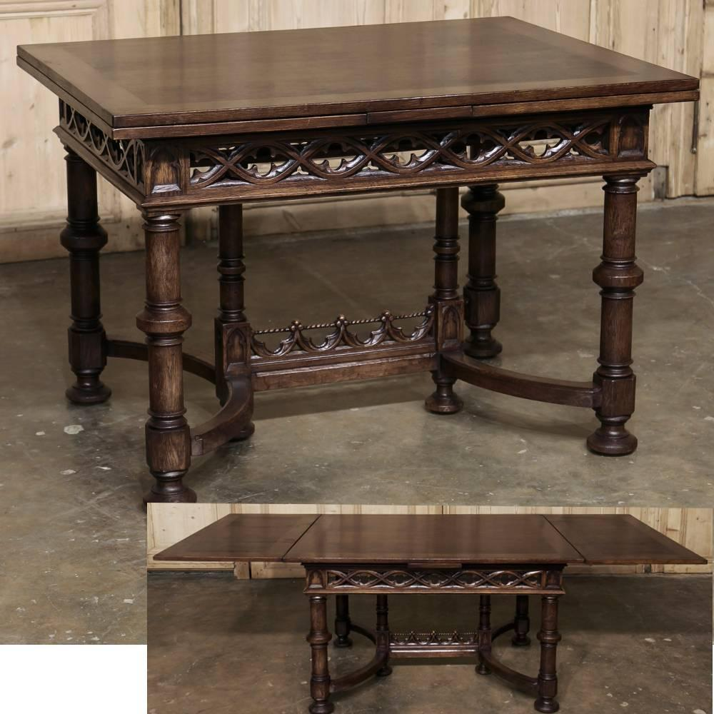 19th Century French Gothic Draw-Leaf Dining Table At 1stdibs