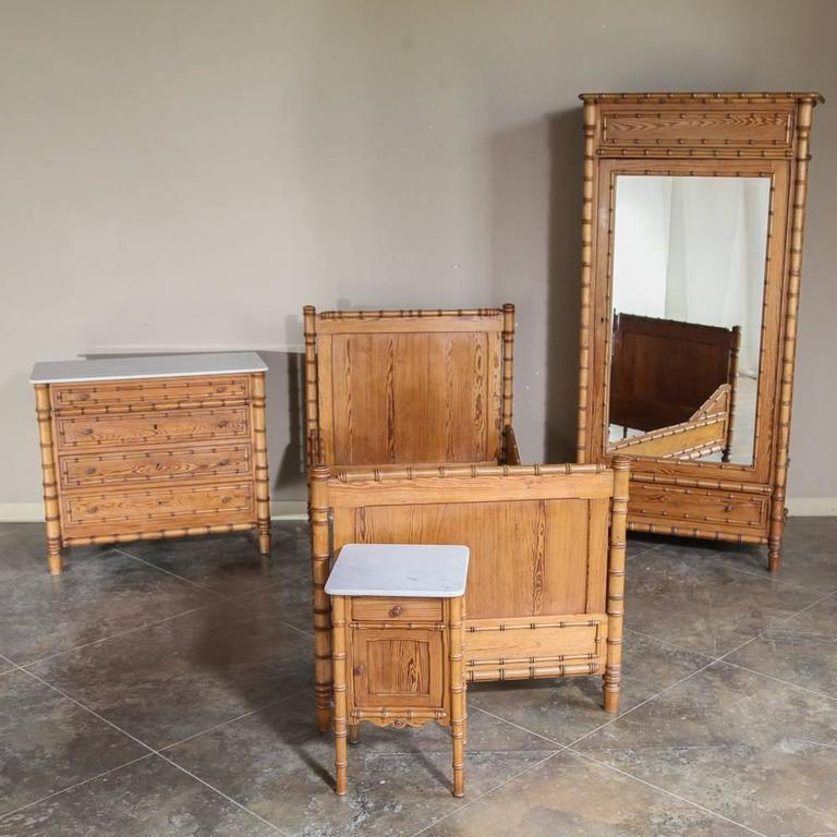 19th Century French Faux Bamboo Bedroom Suite At 1stdibs