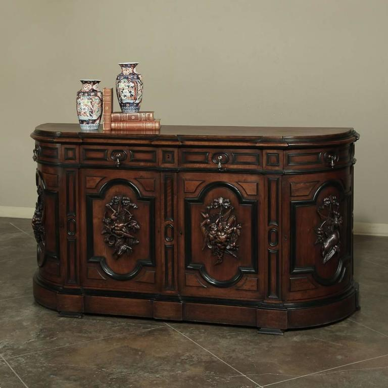 19th century french napoleon iii period walnut buffet at 1stdibs. Black Bedroom Furniture Sets. Home Design Ideas