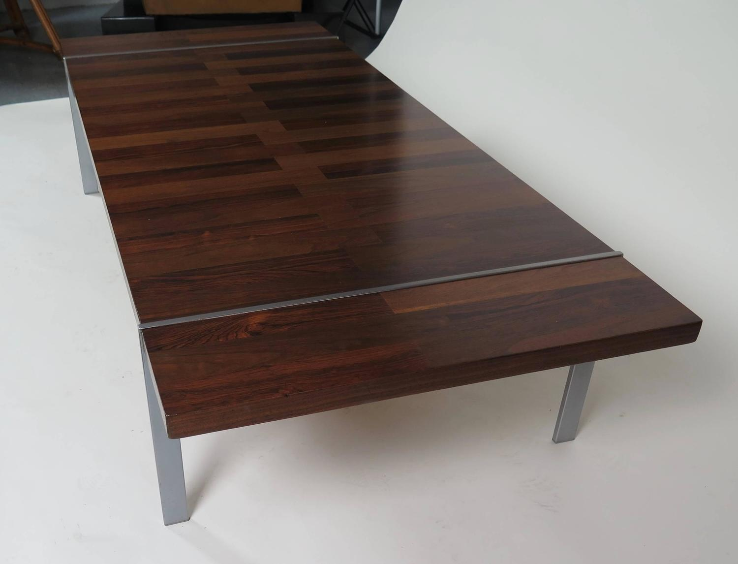 Unusual lane rosewood and walnut coffee table for sale at for Unusual tables for sale