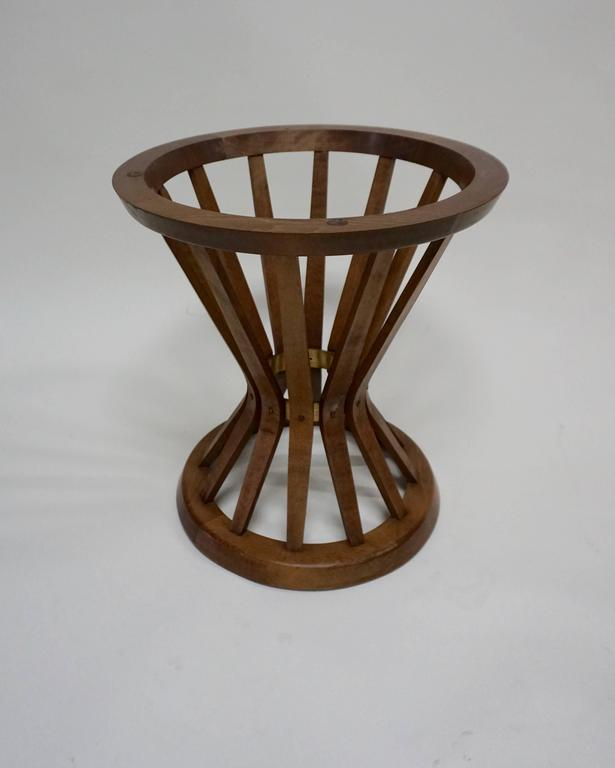 "American Edward Wormley for Dunbar ""Sheaf of Wheat"" Stand with Travertine Top For Sale"