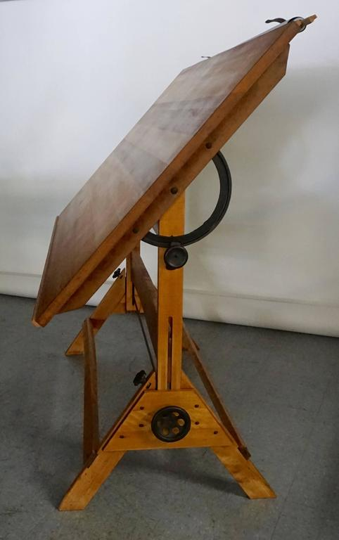 1940 Saxon Drafting Table With Cloth Cover At 1stdibs